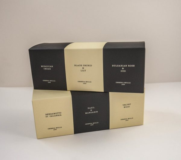 Gift set with 3 candles 70g